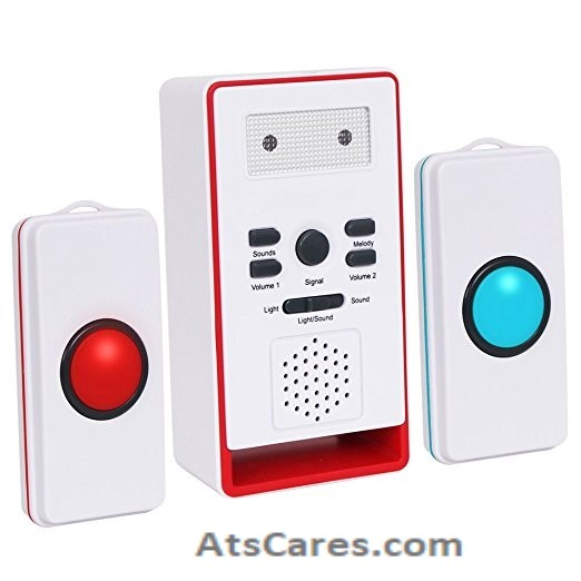 2 button help call pager alert system