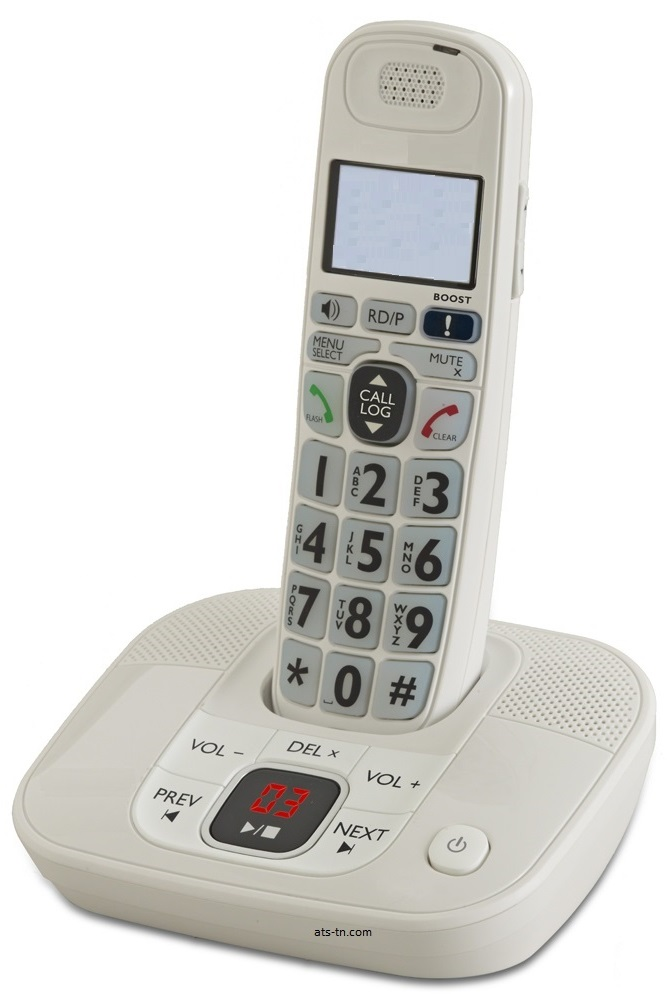 big button amplified cordless phone with answering machine