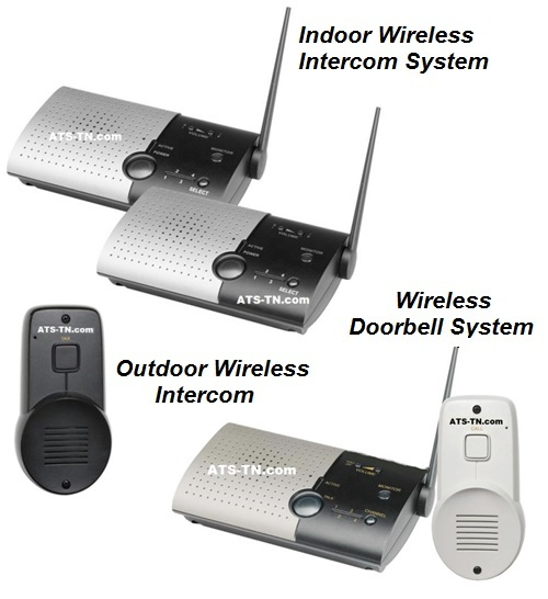1000 ft Wireless Expandable Indoor / Outdoor Intercom System