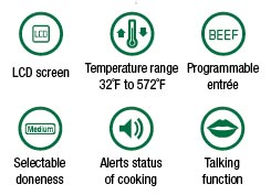 300 Ft Talking Portable Oven Thermometer